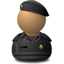Elite Captain Black Shielded Sticker