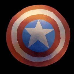 Captain America Shield Sticker