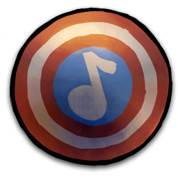Captain America Shield Music Note Sticker