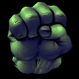 Hulk Fist Sticker