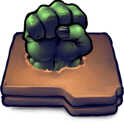 Hulk Fist Folder Sticker