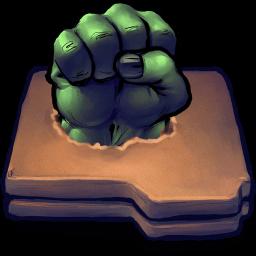 Hulk Fist Folder Sticker