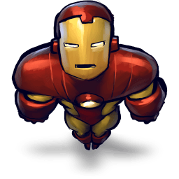 Iron Man Flying Sticker