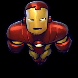 Iron Man Flying Sticker