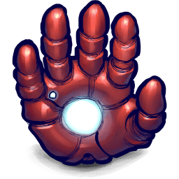 Iron Man Hand Sticker