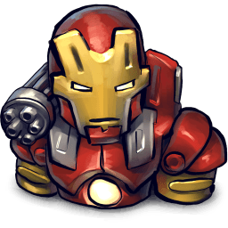 Iron Man Red Suit Sticker