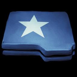 Folder Blue Star Sticker