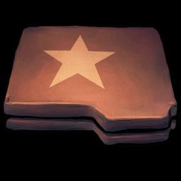 Folder Brown Star Sticker