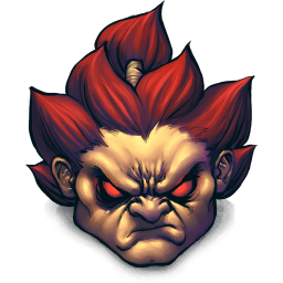 Street Fighter Akuma Sticker