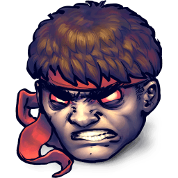 Street Fighter Dark Hadou Sticker