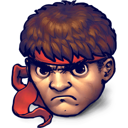 Street Fighter Ryu Sticker