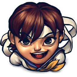 Street Fighter Sakura Kasugano Sticker