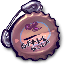 Grape Soda Safety Pin Sticker