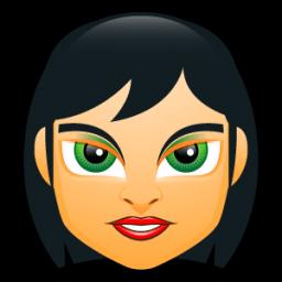 Female Face Fc 5 Sticker