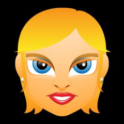 Female Face Fe 1 Blonde Sticker