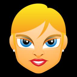 Female Face Fe 2 Blonde Sticker