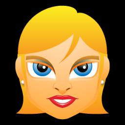 Female Face Fe 3 Blonde Sticker