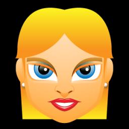 Female Face Fe 4 Blonde Sticker