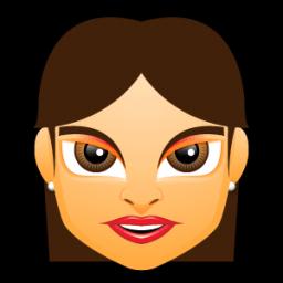Female Face Fg 2 Brunette Sticker