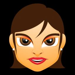 Female Face Fg 3 Brunette Sticker