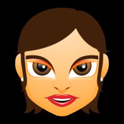 Female Face Fg 5 Brunette Sticker