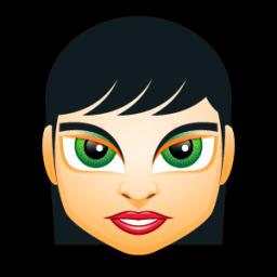 Female Face Fi 1 Sticker