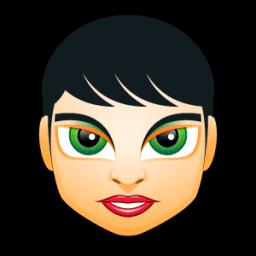 Female Face Fi 3 Sticker