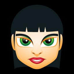 Female Face Fi 5 Sticker