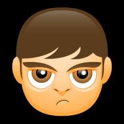 Male Face A4 Sticker