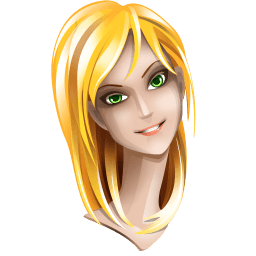 Blonde Hair Girl Sticker