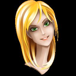Blonde Hair Girl Sticker