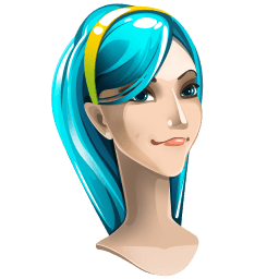 Light Blue Hair Girl Sticker
