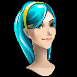 Light Blue Hair Girl Sticker