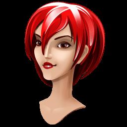 Red Hair Girl Sticker