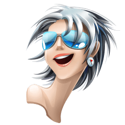 Gray White Hair Girl Sticker