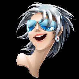 Gray White Hair Girl Sticker