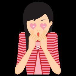 Girl In Love Sticker