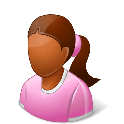 Age Child Female Dark Sticker