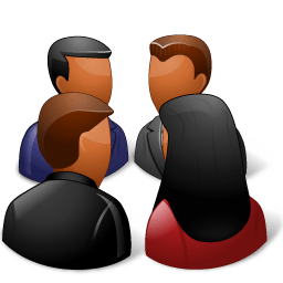 Groups Meeting Dark Sticker