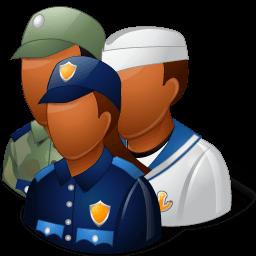 Groups Military Personnel Dark Sticker