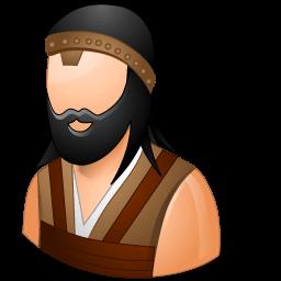Historical Barbarian Male Sticker