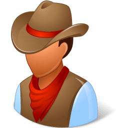 Historical Cowboy Sticker