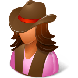 Historical Cowgirl Sticker