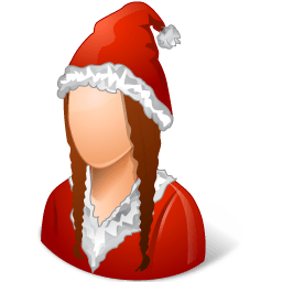Historical Santa Claus Female Sticker