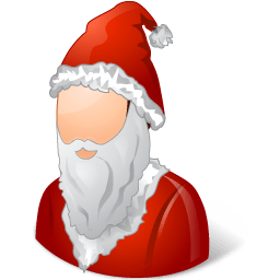 Historical Santa Claus Male Sticker
