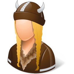 Historical Viking Female Sticker