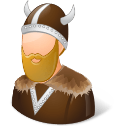 Historical Viking Male Sticker