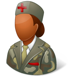 Medical Army Nurse Female Dark Sticker