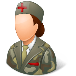 Medical Army Nurse Female Light Sticker