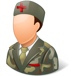 Medical Army Nurse Male Light Sticker